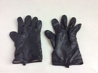 VINTAGE Black Leather Driving Gloves Women's Medium
