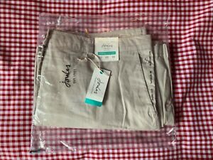 JOULES COMPTON WIDE LEG CROPPED CHINOS TROUSERS - IVORY - SIZE 20 - LAST ONE!