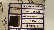 """10"""" x 10"""" x 4"""" deep Stainless Steel Pullbox With Cover"""