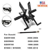 Rear Set Footpeg Adjustable RearsetsFor Suzuki GSXR600 GSXR750 GSXR1000 SV650 US