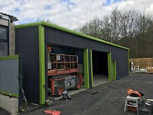 Steel Buildings,fully Clad Industrial Buildings Insulated Building, Power Coated