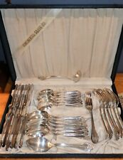 Antique IS/American/Continental OREGON 1900 SilverPlate Flatware Set in Box