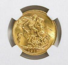 AUSTRALIA ~ 1918 S ~ GOLD  SOVEREIGN ~ NGC MS 64 ~ ( AGW = 0.2354 OZ.) ~ $748.88