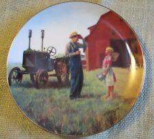 1990 Danbury Mint~Daddy'S Little Helper~Emmett Kaye~Farming Heartland Collection