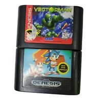 Sonic The Hedgehog 2 And Vecrorman Sega Genesis Lot Of Two Games