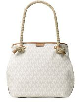 NEW Michael Kors MK Signature Maritime Large Beach VANILLA Tote~MSRP$348