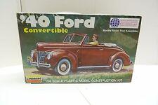 LINDBERG '40 FORD CONVERTIBLE 1/32 SCALE #2120 AUTOMOBILE MODEL KIT SH3E