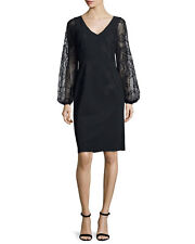Rickie Freeman for Teri Jon Long-Sleeve Embroidered Cocktail Dress SZ US12 BNWT!