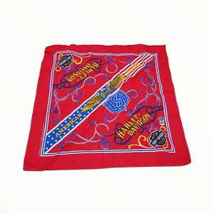 Harley Davidson Bandanna American Legend RN 16463 Handkerchief Made in USA Red