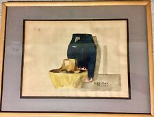 EXQUISITE ANTIQUE SIGNED ORIGINAL ART WATERCOLOR PAINTING BY ARTIST H PHILLIPS