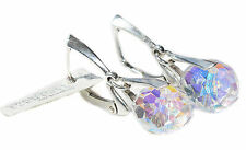 21mm AB Briolette Crystals From Swarovski® Sterling Silver High Fashion Earrings