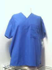Wear For Care Unisex Scrub Top Royal Blue Size M