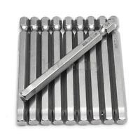 10Pcs 75mm Length 6mm Metal Tip Hex Hexagon Head Magnetic Screwdriver Bits Tool