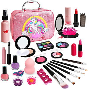 Kids Makeup Kit for Girl - Washable Girls Makeup Set, Toys for 4 5 6 7 Years for