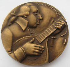 "Raimo Heino 1973 Bronze Art Medal ""C. M. Bellman"" 70 mm 241 gr / N 139"