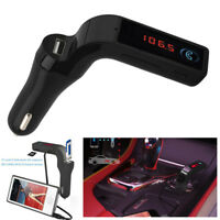 BT Car Kit Freisprecheinrichtung FM Transmitter Radio MP3-Player USB-Ladegerät