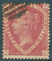 1870 Victorian 1½d RED Line-Engrave STAMP SG51 Plate 3 'TC' SUPERB Used REF:Zw10
