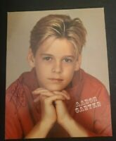 AARON CARTER SIGNED 8X10 PHOTO AARONS PARTY NICK CARTER BSB WCOA+PROOF RARE WOW