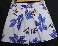 COUNTRY ROAD ~ White Black Geometric w Blue Pink Flowers Cotton Skorts Shorts 6