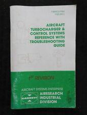 1984 GARRET AIRCRAFT TURBOCHARGER TROUBLESHOOTING MANUAL CESSNA PIPER BEECHCRAFT