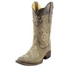 Botas de mujer de tacón alto (más que 7,5 cm) de color principal gris de piel