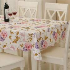 Rectangle PVC Table Cloth Cover Wedding Birthday Party Tablecover Floral Decor W