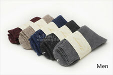 Lot Winter Wool Cashmere Men/Women Thick Warm Dress Comfortable Solid Socks