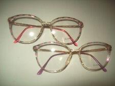 2 Pair LOT - ELAN Women's Eyeglasses Vintage 53-16 Frames Rose Lilac NOS Frames
