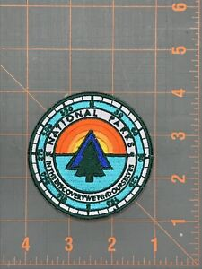 National Parks Patch Embroidered Outdoors Nature Camping Hiking