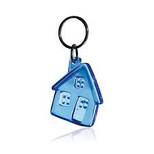 Gadget portachiavi forma CASA BLU TRASP agenzia immobiliare edilizia muratore