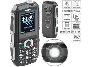 Téléphone mobile outdoor double SIM étanche et antichoc - Simvalley Mobile