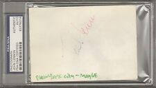 The Beatles JOHN LENNON Signed Autographed Candid Photo Slabbed PSA/DNA & JSA