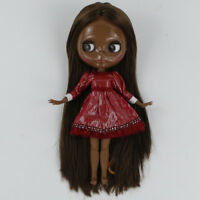 "12/"" Neo Blythe doll nude Short Green mix bang hair JD1015 from facotry Xmas gift"