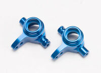 Traxxas 6837X - Left & Right Aluminum Steering Blocks, Blue Anodized