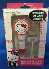 Hello Kitty 2.1A Single Port USB Car Charger for iPad/iPhone/iPod w/USB to 30pin