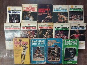 COMPLETE HANDBOOK OF PRO BASKETBALL 1971-1985 HUGE mixed LOT NBA