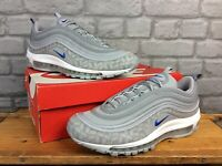 NIKE MENS UK 9 EU 44 AIR MAX 97 GREY SILVER BLUE BULLET TRAINERS RRP £145 AD