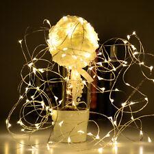 20er LED's Lichterkette Drahtlichterkette Leuchtdraht Deko Micro warmweiss