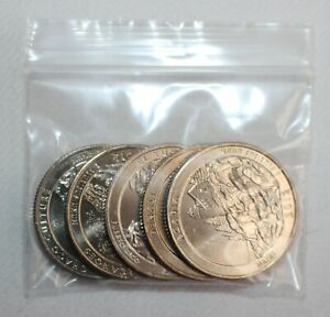 2012 S Minted America The Beautiful Quarters Set of 5 Uncirculated 25c US Coins