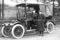 Rht-6 Motoring History, Vintage Motor Car, Driver and Passengers. Photo