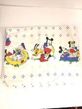 Vintage Disney Receiving Blanket Mickey Mouse Nursery Rhymes Flannel Baby Infant