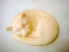Sleeping Cat, Silicone Mold Mould Chocolate Polymer Clay Soap Candle Wax Resin