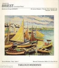 Catalogue vente BRIEST peintur moderne Impressionniste Ecole Bretonne Waroquier