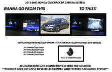 2012-2016 HONDA CIVIC BACK UP CAMERA SYSTEM REAR VIEW CAMERA KIT INC HARNESS