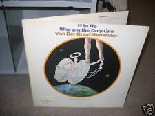 Van Der Graaf Generator H to He Who Am vinyl LP 1970 white label promo