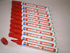 10-pc Edding 3000 Pennarello indelebile rosso Punta tonda 1,5 -3 mm NUOVO