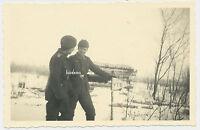 Foto Russlandfeldzug Bunker /Schild -Soldaten-Wehrmacht-Winter 2.WK (3049)