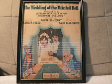 "Sheet Music Framed ~Sherman Clay  ""The Wedding of the Painted Doll"""