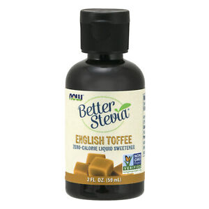 Now Foods Better Stevia English Toffee Liq 2 oz Made in USA FREE SHIPPING