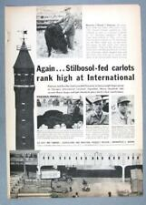 """Orig 1960 Lilly Feed Ad Photo Endorsed Norman """"Shorty"""" Peterson, Havelock Iowa"""